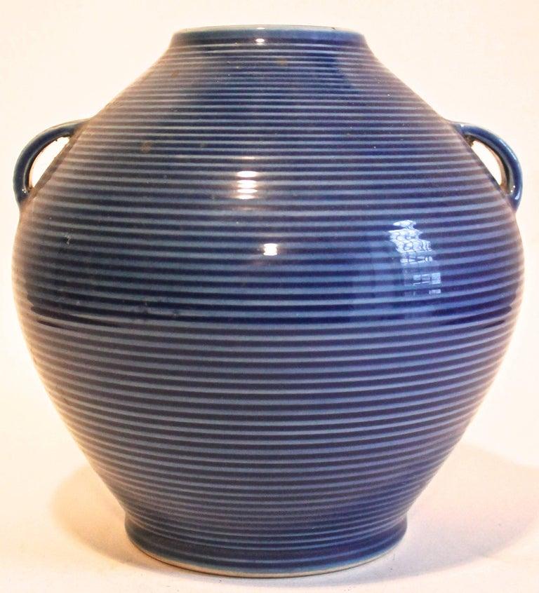 Mid-Century Modern Fukagawa Japanese Modernist Porcelain Vase For Sale