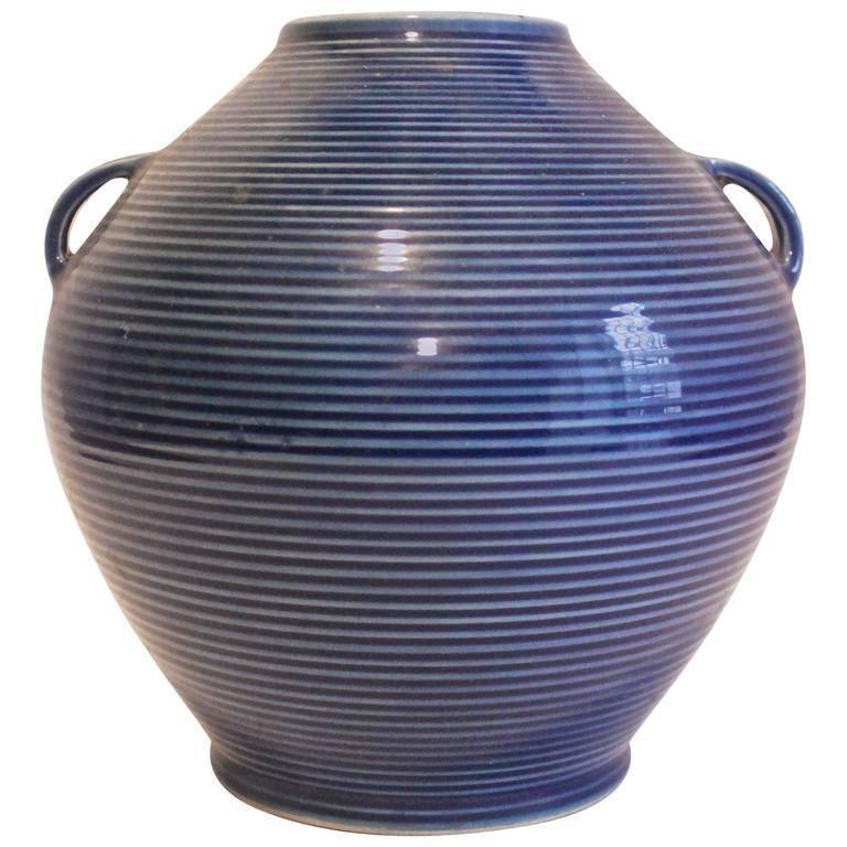 Fukagawa Japanese Modernist Porcelain Vase For Sale