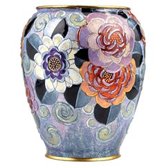 Full Bloom Floral Vase by Camille Fauré