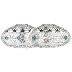 Full Finger Fancy Blue Diamond Claw Ring