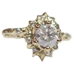 Full Floresco Diamond Ring 18 Karat Yellow Gold
