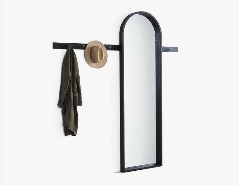 Shaker Full-Length Arched Mirror by Coolican & Company For Sale