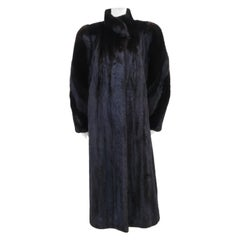 Full Length Black Ranch Mink Fur Coat