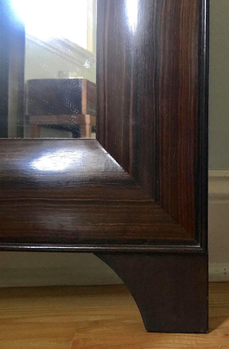 Modern Full Length Dressing Mirror in Macassar Ebony -  Customizable In Exotic Wood For Sale