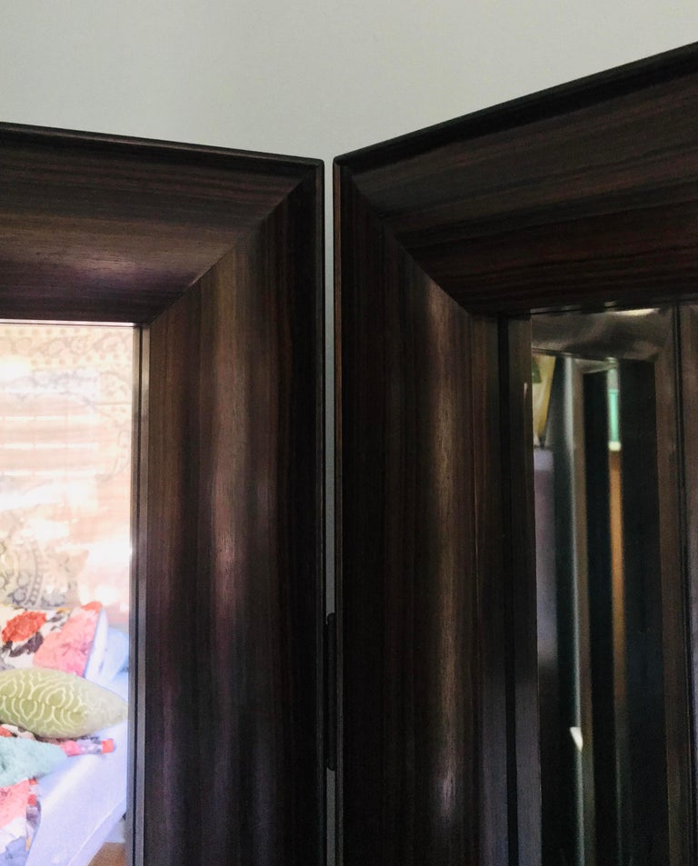 American Full Length Dressing Mirror in Macassar Ebony -  Customizable In Exotic Wood For Sale