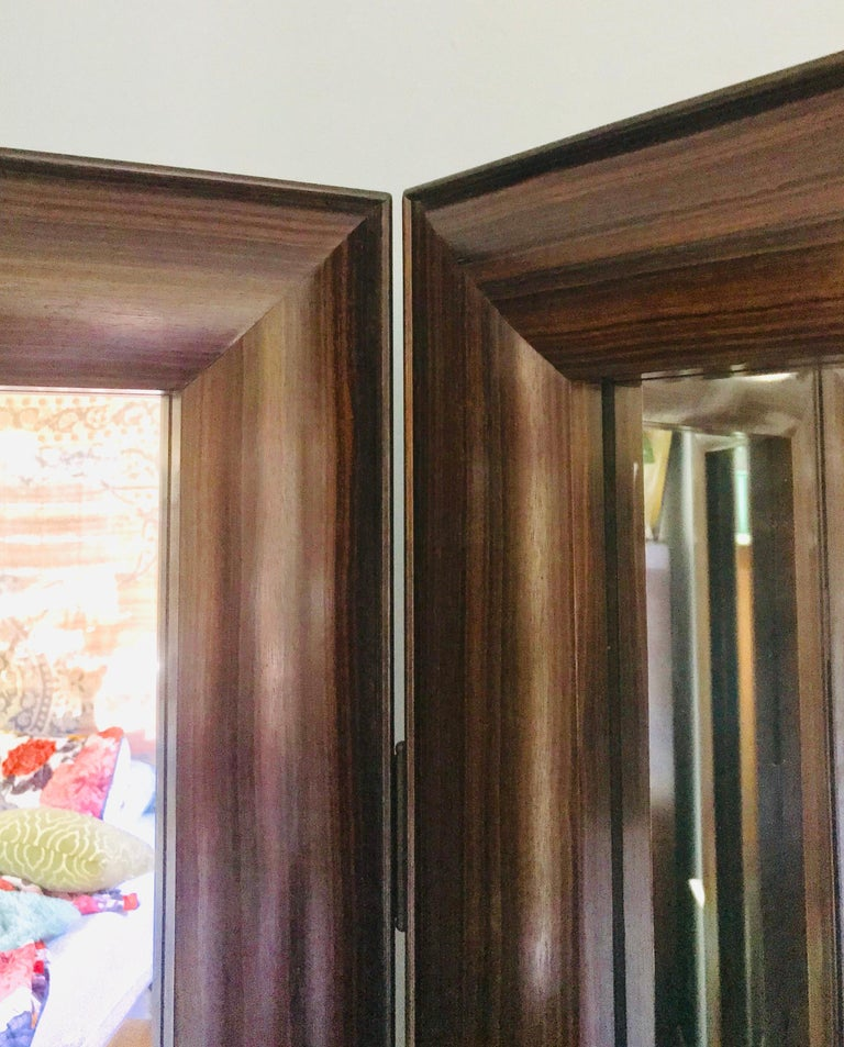 Full Length Dressing Mirror in Macassar Ebony -  Customizable In Exotic Wood In New Condition For Sale In Wilton, CT