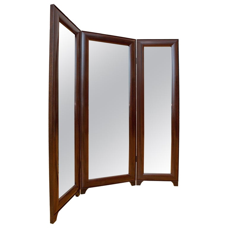 Full Length Dressing Mirror in Macassar Ebony -  Customizable In Exotic Wood For Sale