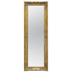 Full-Length Giltwood Wall Mirror, Louis XV Style, circa 1960