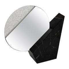 Full Moon Black Table Mirror by Espidesign by Paola Speranza