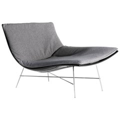 Full Moon Chair in Grey with Black Lacquered Shell by Ludovica & Roberto Palomba