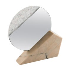 Full Moon Pink Table Mirror by Espidesign by Paola Speranza