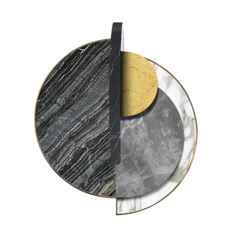 Full Moon side table by Bohinc Studio. Coming from the Lunar collection designed by Lara Bohinc this exquisite table is truly a work of art. Following the design language of Solaris, taking inspiration from the planets and their orbital movements,