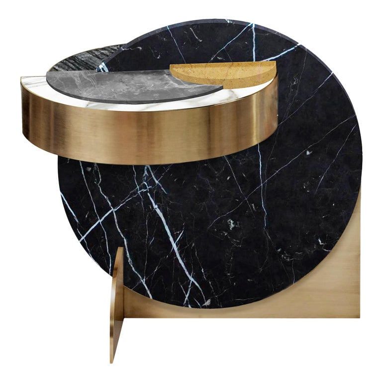Full Moon Side Table by Bohinc Studio Duplex Exclusive For Sale