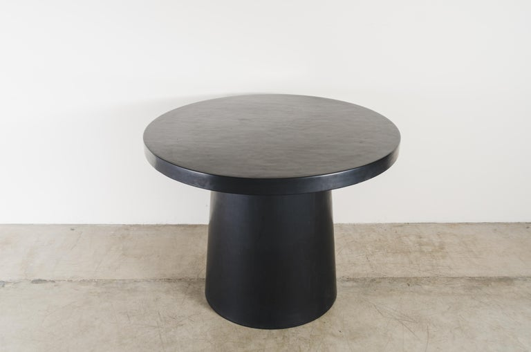 Full Moon Table, Black Lacquer by Robert Kuo, Handmade, Limited Edition In New Condition For Sale In West Hollywood, CA