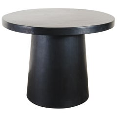 Full Moon Table, Black Lacquer by Robert Kuo, Handmade, Limited Edition