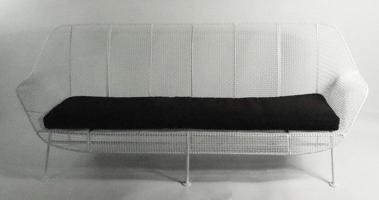 Full Size Woodard Sculptura Sofa For Sale 2