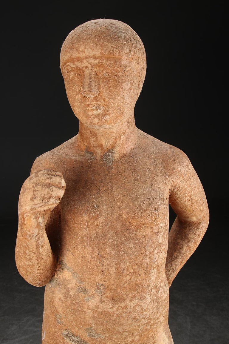 Classical Greek Full-Size Wooden Statue For Sale