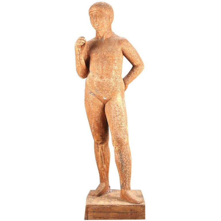 Full-Size Wooden Statue For Sale