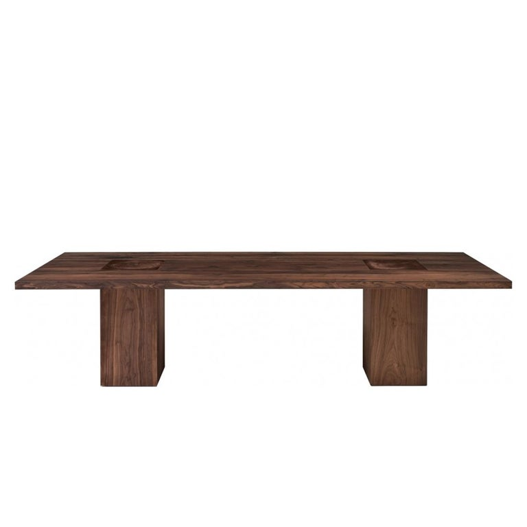 Hand-Crafted Full Wood Dining Table For Sale