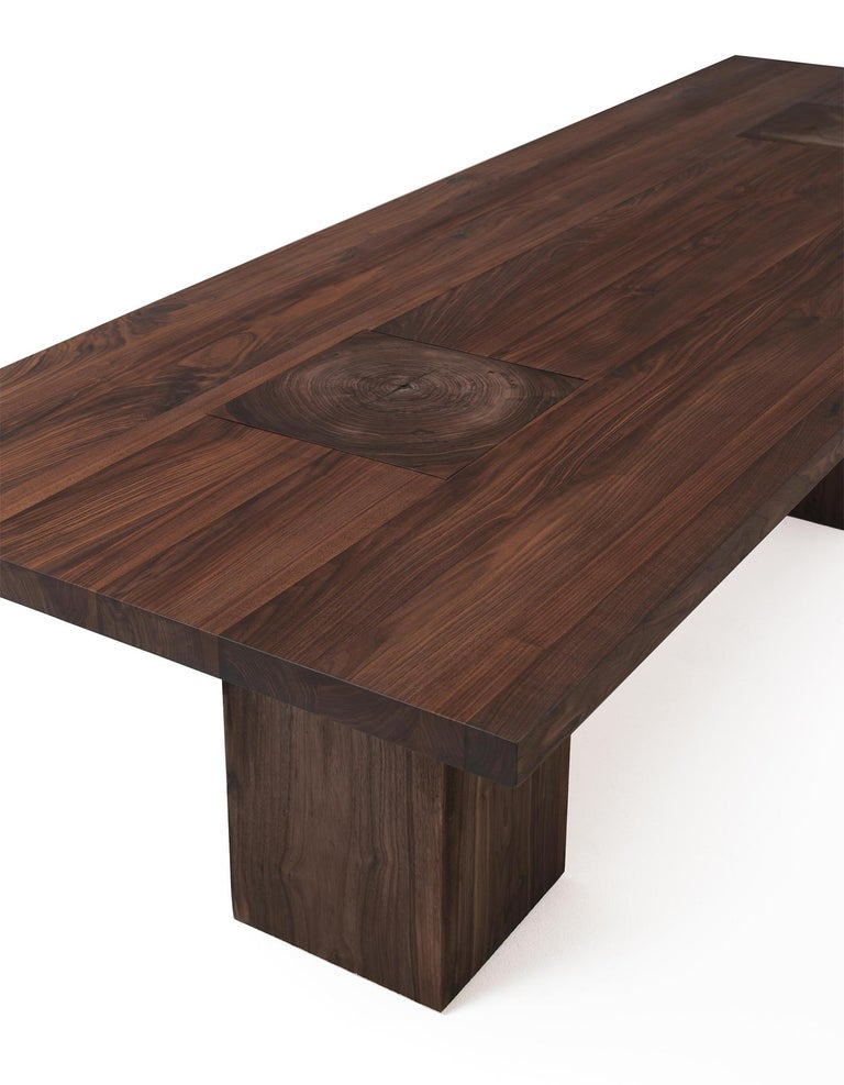 Contemporary Full Wood Dining Table For Sale