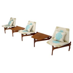 Fully Adjustable Modular Sofa Lounge Chairs Coffee Side Table Set Sofa