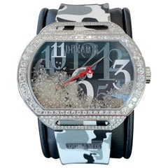 Fully Loaded White Diamond Timepiece Watch, The Dunamis Spartan