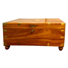 Fully Refinished Campain Chest or Trunk
