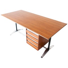 Fully Restored 1950s Desk by Studio PFR Ponti Fornaroli Rosselli