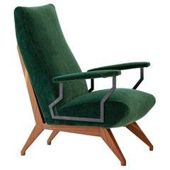 Fully Restored 1950s Rare Italian Modern Armchair