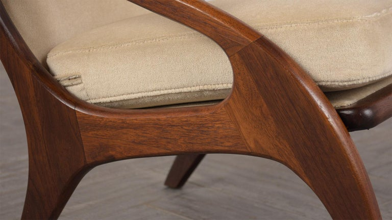 Mid-20th Century Fully Restored Adrian Pearsall Craft Paddle Single Lounge Chair For Sale