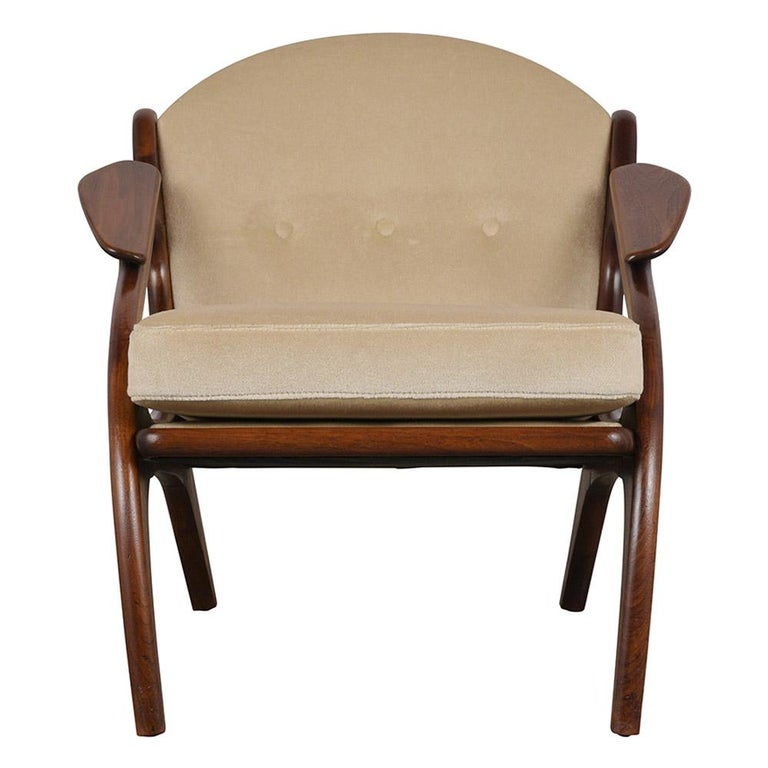 Fully Restored Adrian Pearsall Craft Paddle Single Lounge Chair For Sale 2