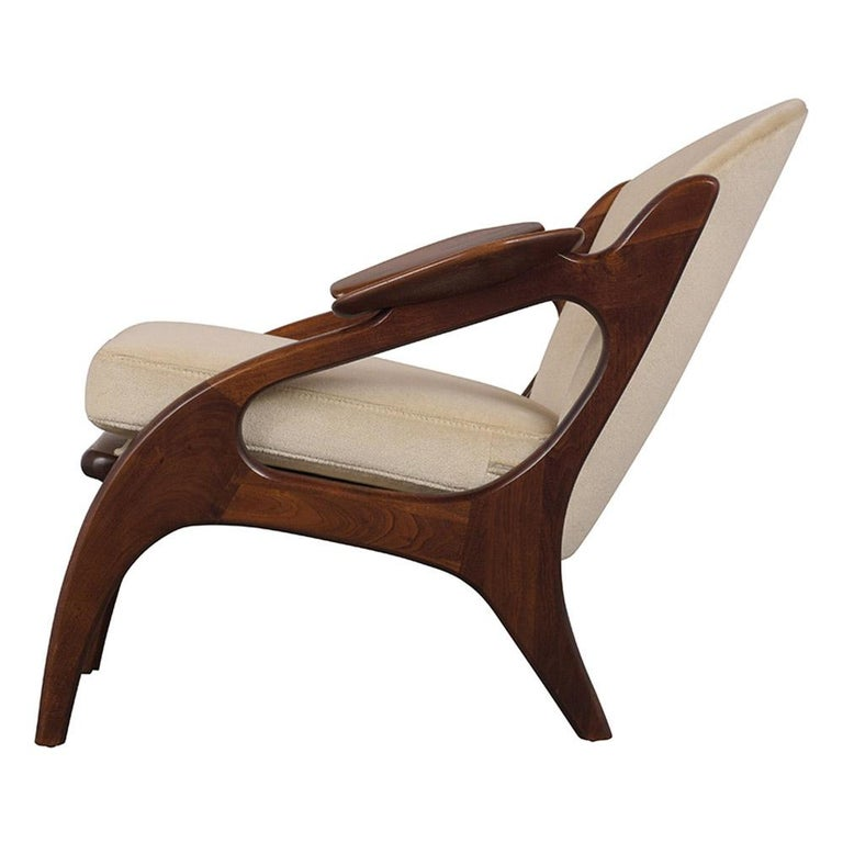 Fully Restored Adrian Pearsall Craft Paddle Single Lounge Chair For Sale 3
