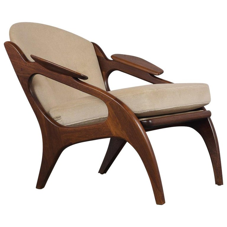 Fully Restored Adrian Pearsall Craft Paddle Single Lounge Chair For Sale