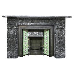 Fully restored antique late Victorian St Anne marble fire surround