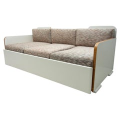 Fully Restored Art Deco Sofa, 1930s, Bohemia
