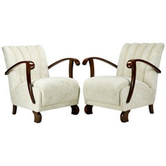 Fully Restored B-970 Lounge Chairs by Thonet, 1920s