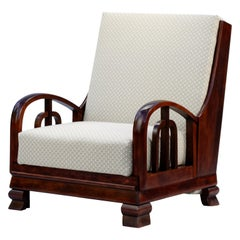 Fully Restored Bed Armchair Attributed to Lajos Kozma, circa 1920