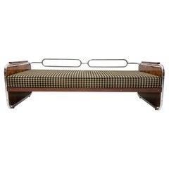 Fully Restored Chromed Bauhaus Sofa, 1930s, Bohemia