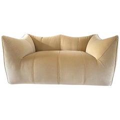 Fully Restored Le Bambole Sofa Design Mario Bellini, Cotton Velvet