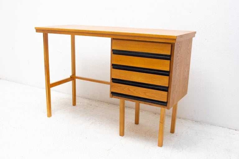 20th Century Fully Restored Mid Century Writing Desk, 1960´s, Czechoslovakia For Sale