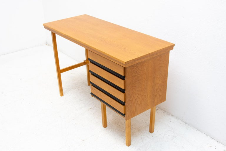 Wood Fully Restored Mid Century Writing Desk, 1960´s, Czechoslovakia For Sale
