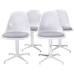 Fully Restored Vintage Eames Side Chairs, Set of 4, La Fonda Base