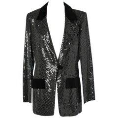 Fully sequined black Valentino jacket
