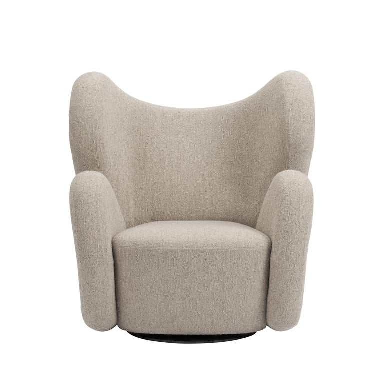 Fully Upholstered Big Big Chair in Barnum Bouclé In New Condition For Sale In Copenhagen, DK