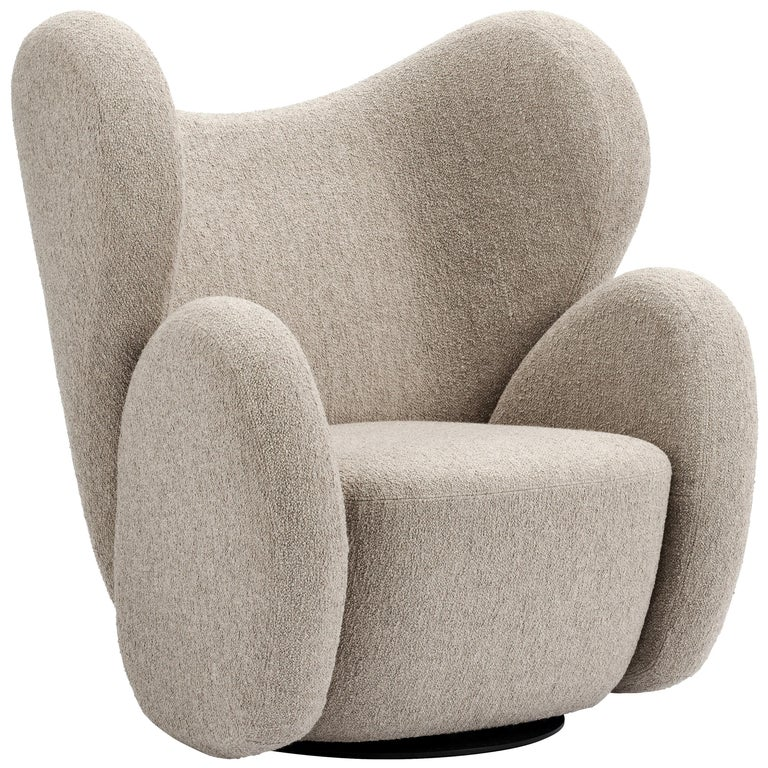 Fully Upholstered Big Big Chair in Barnum Bouclé For Sale