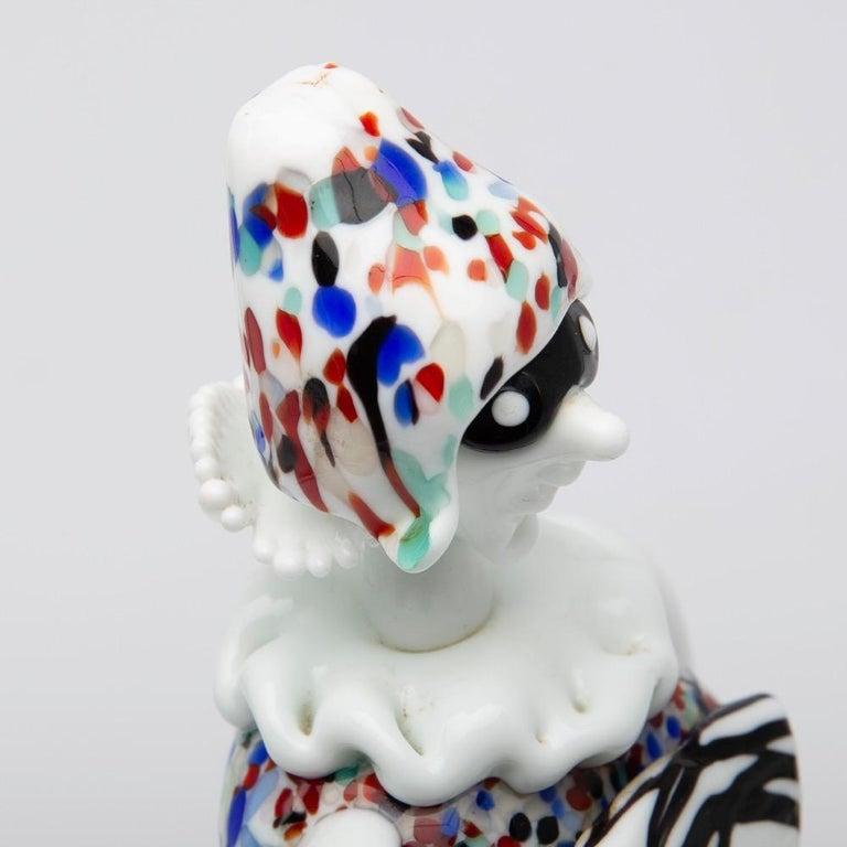 20th Century Fulvio Bianconi for Venini Murano Pair of Figurines Arlecchino and Arlecchina