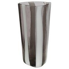 "Fulvio Bianconi, Italy, ""A Fasce Verticali"" Murano Mouth Blown Glass Vase"