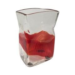 Fulvio Bianconi Murano Glass Vase Mazzega, Italy