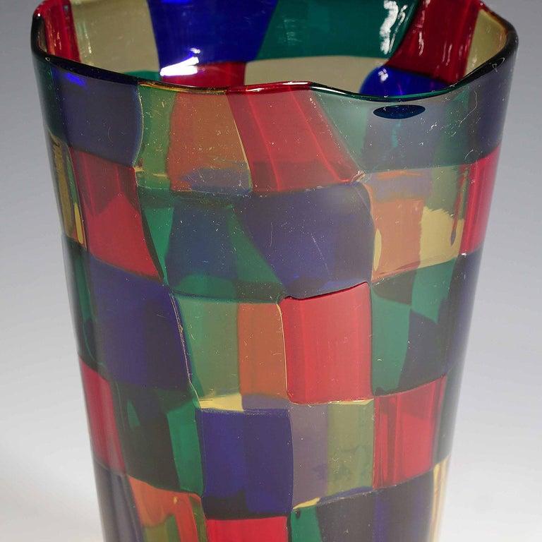 Mid-Century Modern Fulvio Bianconi Vase Pezzato Parigi, Venini circa 1968 For Sale