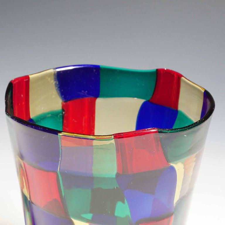 Fulvio Bianconi Vase Pezzato Parigi, Venini circa 1968 In Good Condition For Sale In Berghuelen, DE
